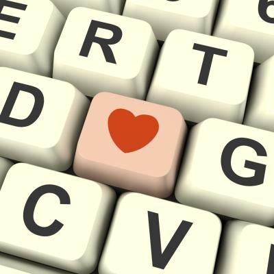 heart and keyboard